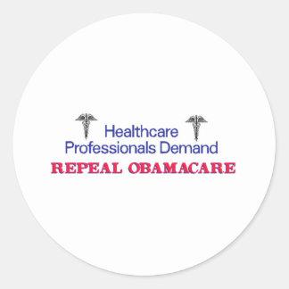 Healthcare Prof Demand Classic Round Sticker