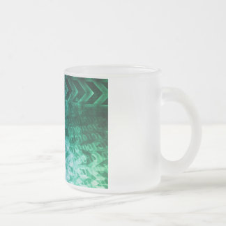 Healthcare Science Industry as a Concept Abstract Frosted Glass Coffee Mug