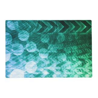 Healthcare Science Industry as a Concept Abstract Laminated Place Mat