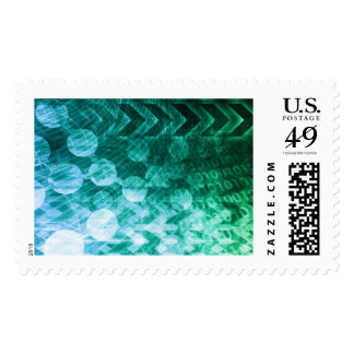 Healthcare Science Industry as a Concept Abstract Postage Stamp