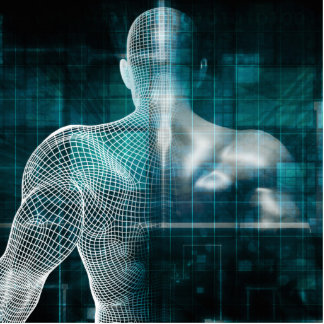 Healthcare System Network as a Digital Technology Statuette