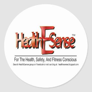 HealthEsense Logo Products Classic Round Sticker