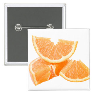 Healthful cut oranges pinback button