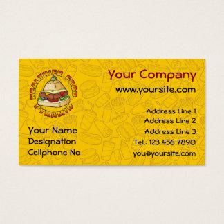 Healthier Food Pyramid Business Card