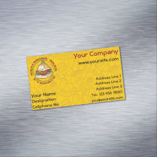 Healthier Food Pyramid Business Card Magnet