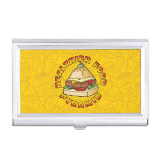 Healthier Food Pyramid Case For Business Cards