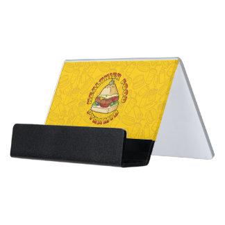 Healthier Food Pyramid Desk Business Card Holder