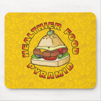 Healthier Food Pyramid Mouse Pad