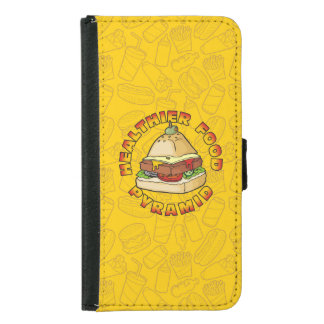 Healthier Food Pyramid Wallet Phone Case For Samsung Galaxy S5