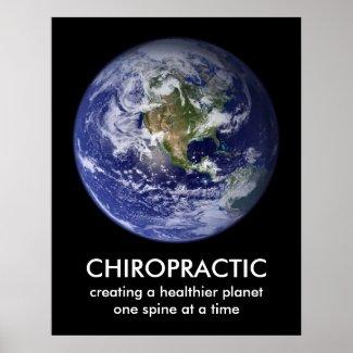 Healthier Planet Chiropractic Print print