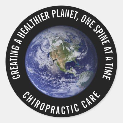 Healthier Planet Chiropractic Stickers