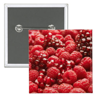 Healthy and nutritious red berries button
