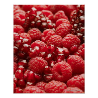 Healthy and nutritious red berries poster