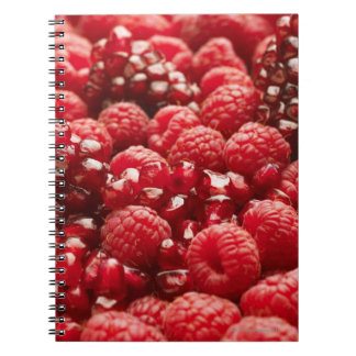 Healthy and nutritious red berries spiral notebook