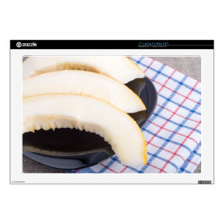 """Healthy and useful dessert of sweet yellow melon 17"""" laptop skins"""