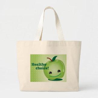 Healthy apple Healthy Choice! Canvas Bag