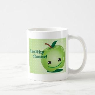 Healthy apple Healthy Choice! Classic White Coffee Mug