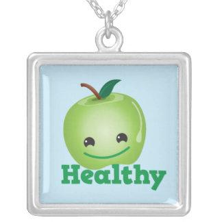 Healthy apple necklace cute!