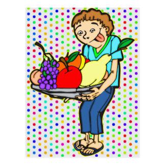 Healthy Balanced Diet Postcard