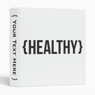 Healthy - Bracketed - Black and White Binder