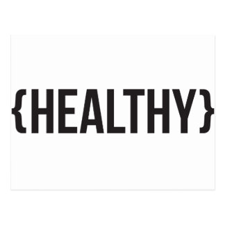 Healthy - Bracketed - Black and White Postcard
