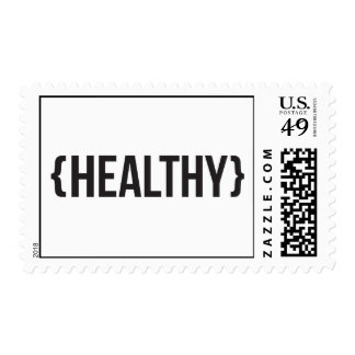 Healthy - Bracketed - Black and White Stamp