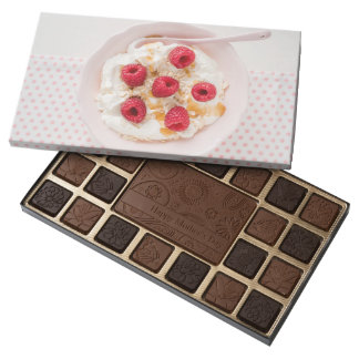 Healthy breakfast assorted chocolates