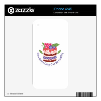 Healthy Cake Decals For The iPhone 4S
