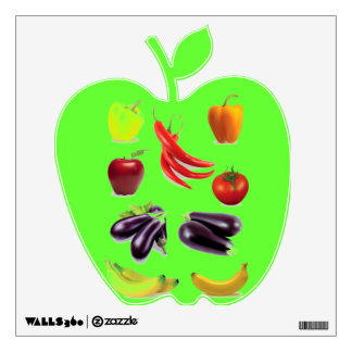 HEALTHY CHILD LEARNING SHOP - GREEN APPLE DECAL WALL GRAPHIC