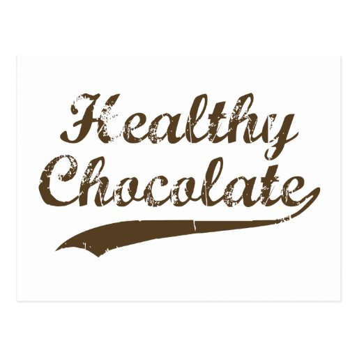 Healthy Chocolate Postcard