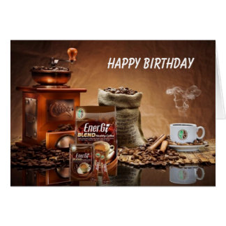 happy birthday coffee greeting cards  zazzle, Birthday card