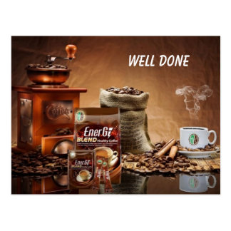 Healthy Coffee WELL DONE Postcard