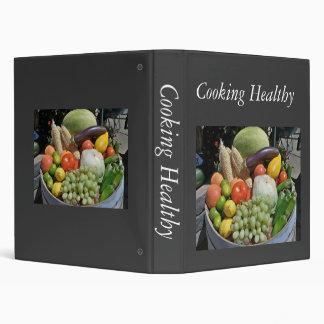 healthy cooking 3 ring binders
