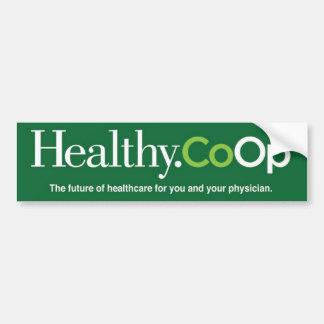 Healthy.Coop green bumpersticker Bumper Sticker