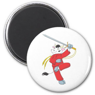 Healthy Cow - Good Health 2 Inch Round Magnet