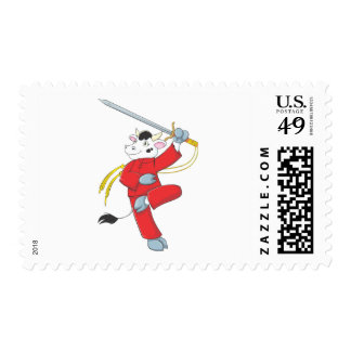 Healthy Cow - Good Health Postage Stamp