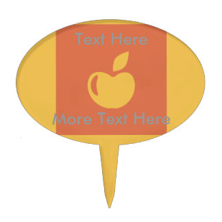 Healthy Diet Apple Workout T-shirt Graphic Cake Topper
