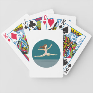 Healthy Digestion Girl Bicycle Playing Cards