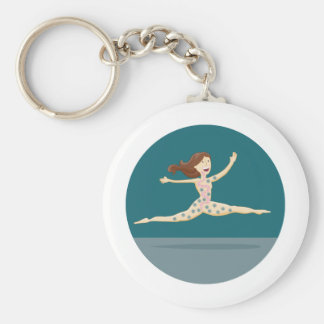 Healthy Digestion Girl Keychain