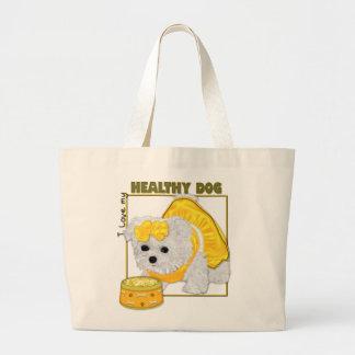 Healthy Dog Food Large Tote Bag
