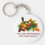 Healthy Eating Customized Keychain.
