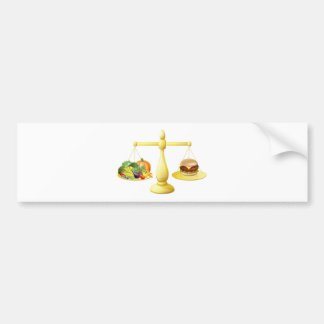 Healthy eating diet decision bumper sticker