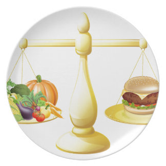 Healthy eating diet decision party plate
