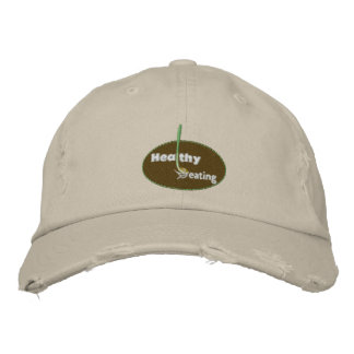 Healthy Eating Embroidered Hats