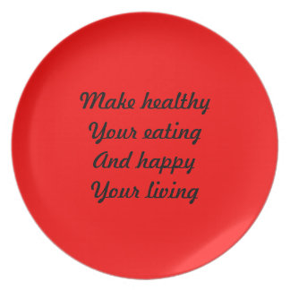 Healthy eating dinner plates