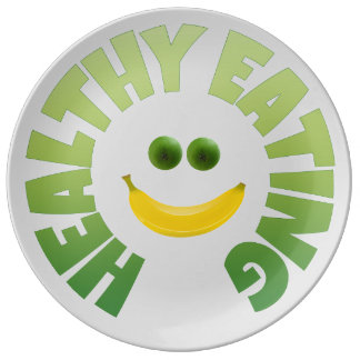 Healthy Eating Porcelain Plate