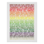 Healthy Eating Rainbow Fruits and Vegetables Text Poster