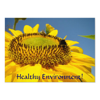 Healthy Environment! Event invitations Sunflowers