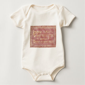 Healthy farm Eating organic Baby Bodysuit