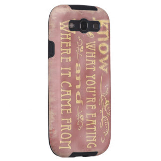 Healthy farm Eating organic Samsung Galaxy S3 Case